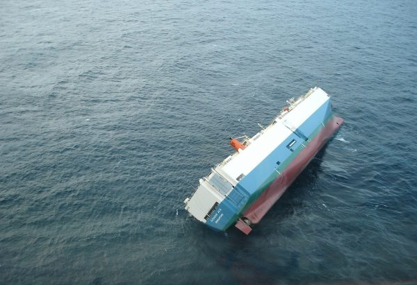 This Sinking ship in the sea